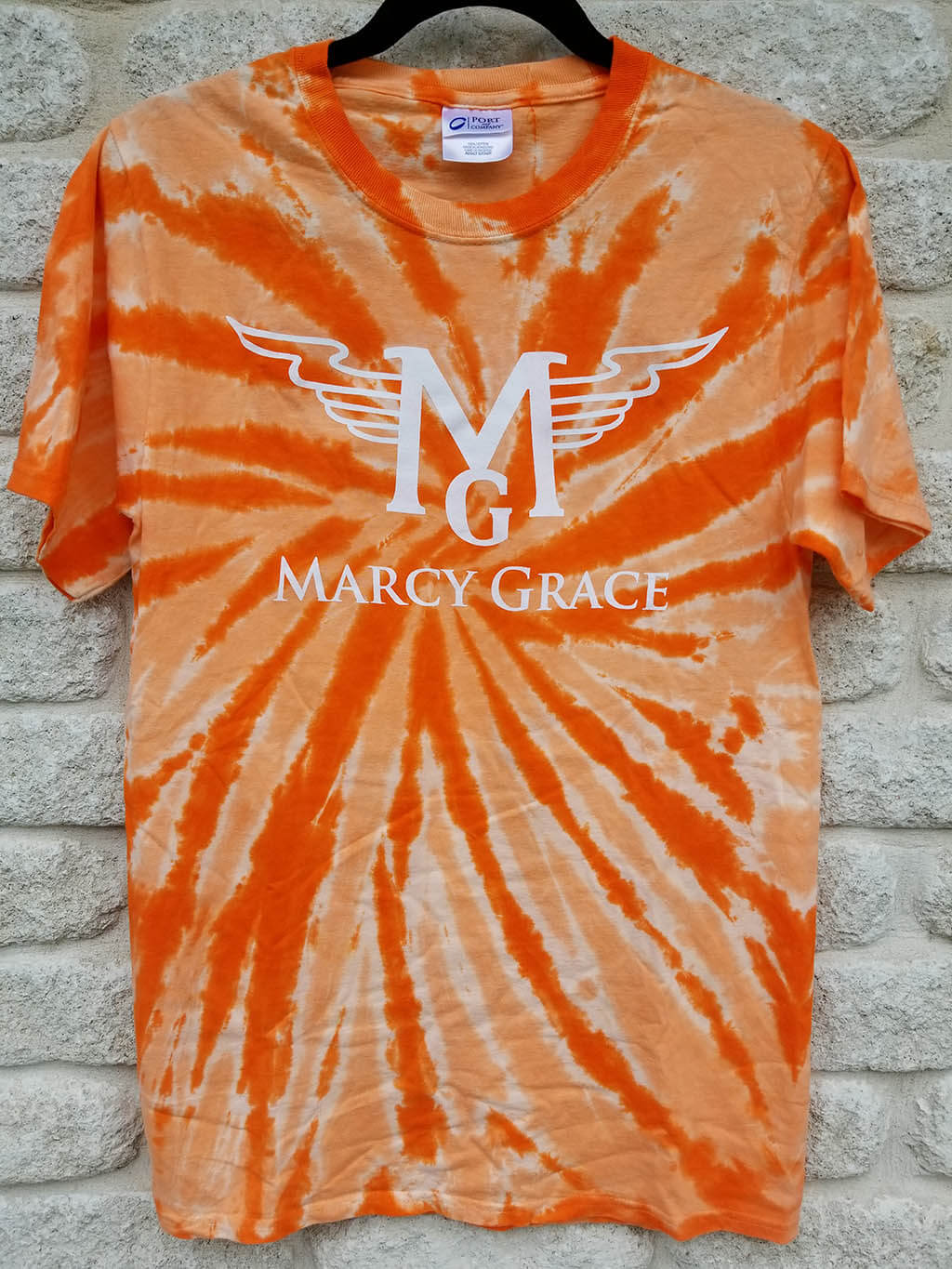 Orange Tie-Dye T-Shirt