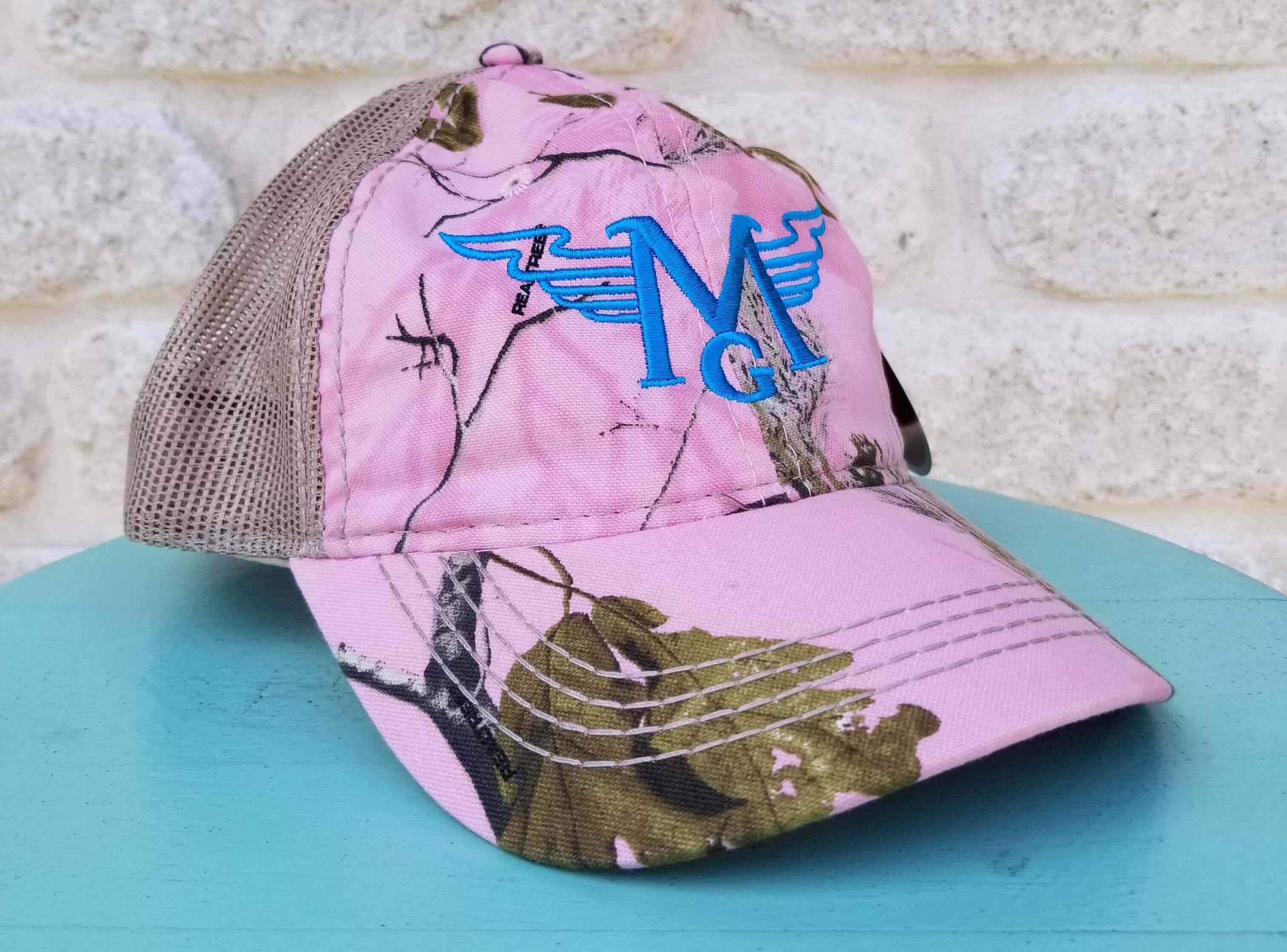 Pink Camo Trucker