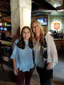 Marcy Grace with Texas Country Music Association president, Linda Wilson